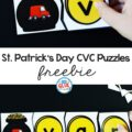 Have some pot of gold fun with this St. Patrick's Day CVC Puzzles Freebie