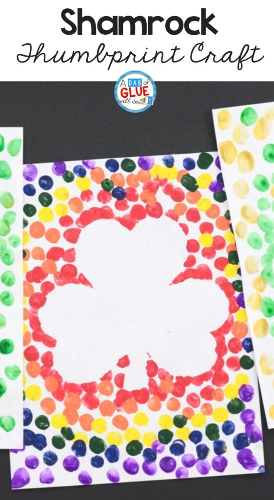 shamrock thumbprint craft