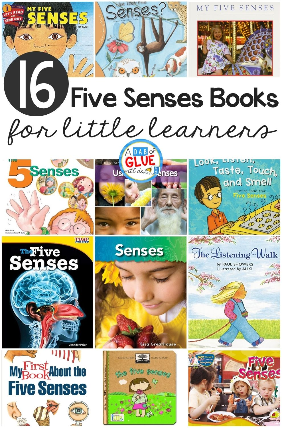 16 Books about the Five Senses for Little Learners