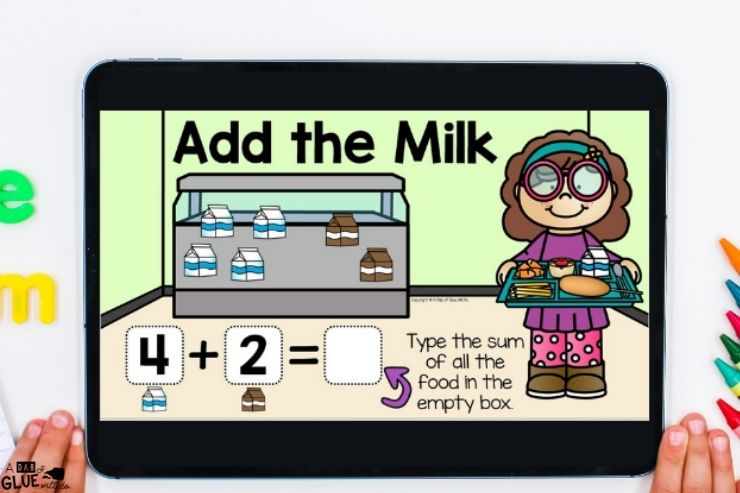 Addition Back to school digital games and activities for kindergarten students. Make learning fun with technology and fun games.