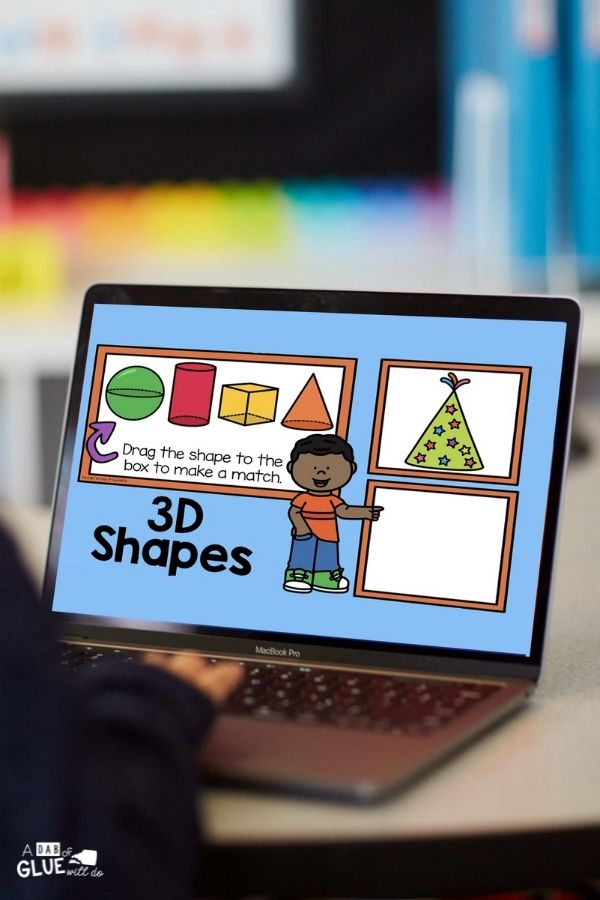 Working on 3D shapes on a laptop