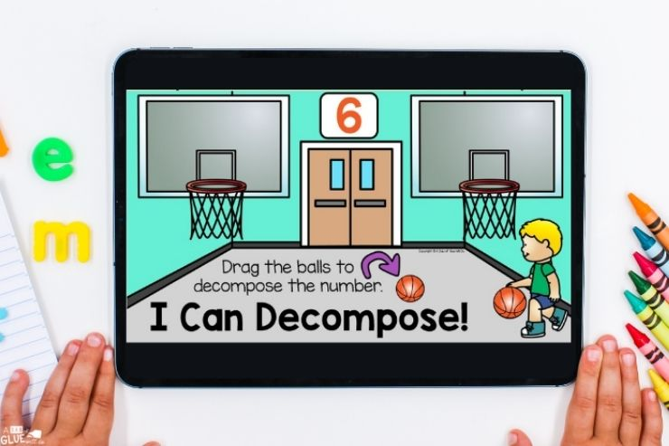 Learning to decompose Back to school digital games and activities for kindergarten students. Make learning fun with technology and fun games.