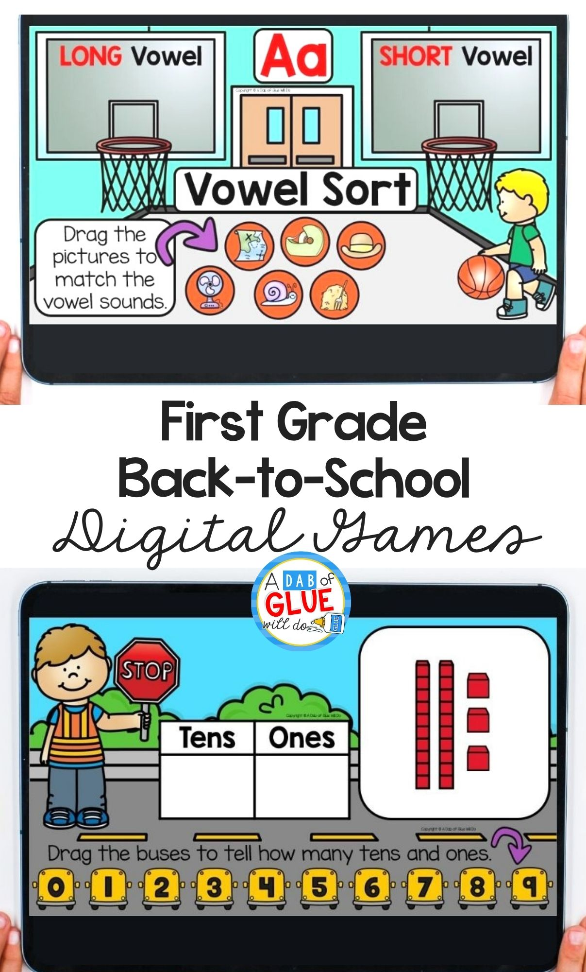 First Grade Back-to-School Digital Games for August