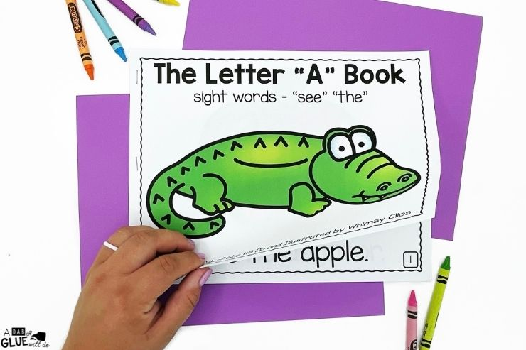 The letter A book. Alphabet Emergent Readers and Activities for our youngest learners. Perfect bundle for prek and kindergarten students.