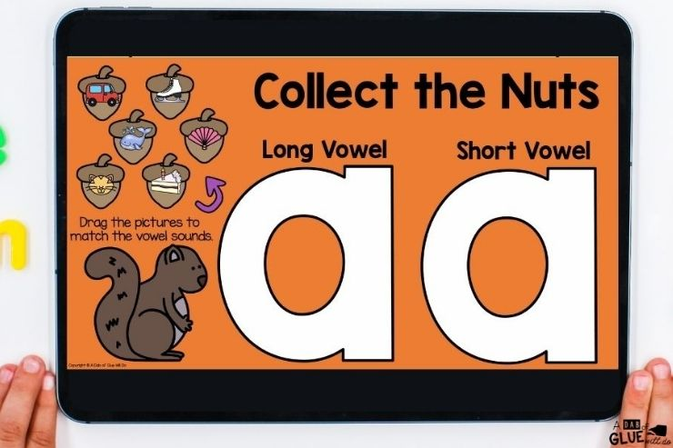 Long vowel and short vowels. November Digital Games and Activities for First Grade Learners. Perfect fall and Thanksgiving themed games for elementary students.