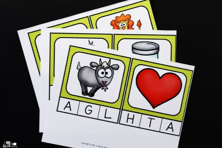 Initial Sounds Clip Cards for Little Learners