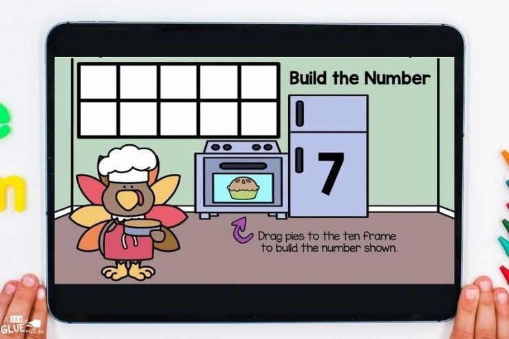 Kindergarten digital games and activities for November. Engage your little learners with fall and Thanksgiving themed games.