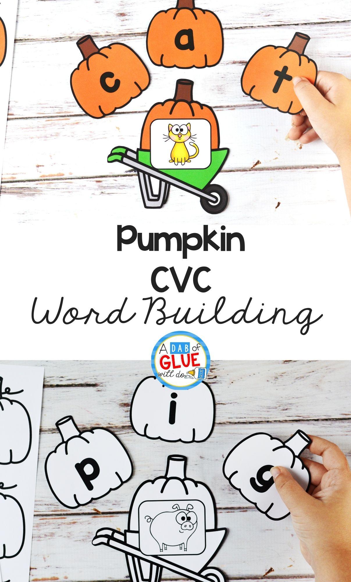 Pumpkin CVC Word Building Activity